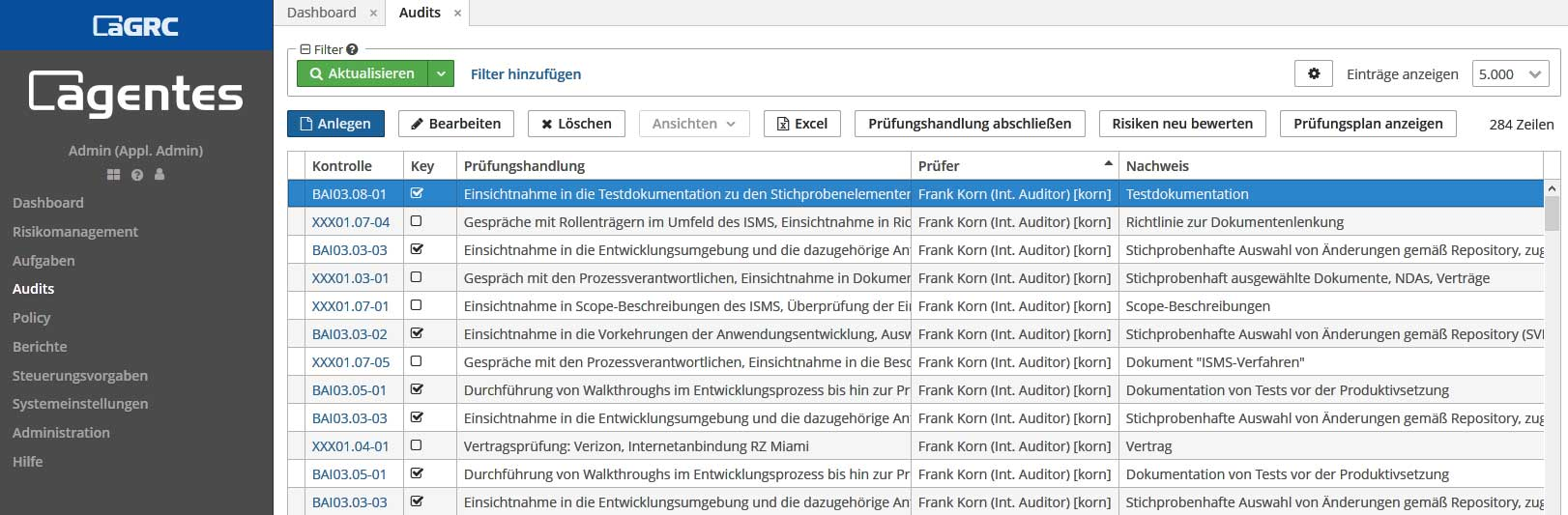 aGRC Software - Audit/Prüfung