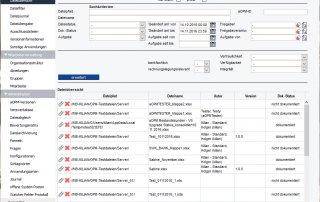 Admin Dateiübersicht