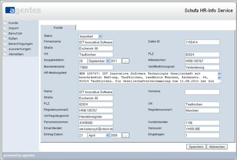 Screenshot_aISA Kundendetails