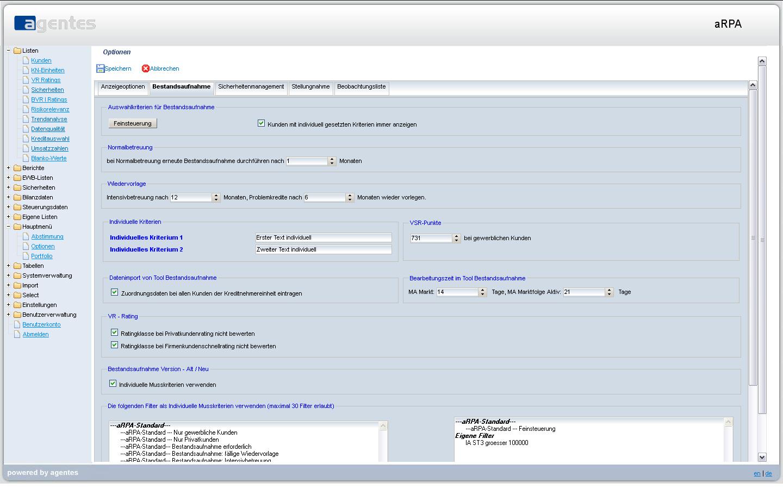 aRPA Screenshot 02 Bestandsaufnahme