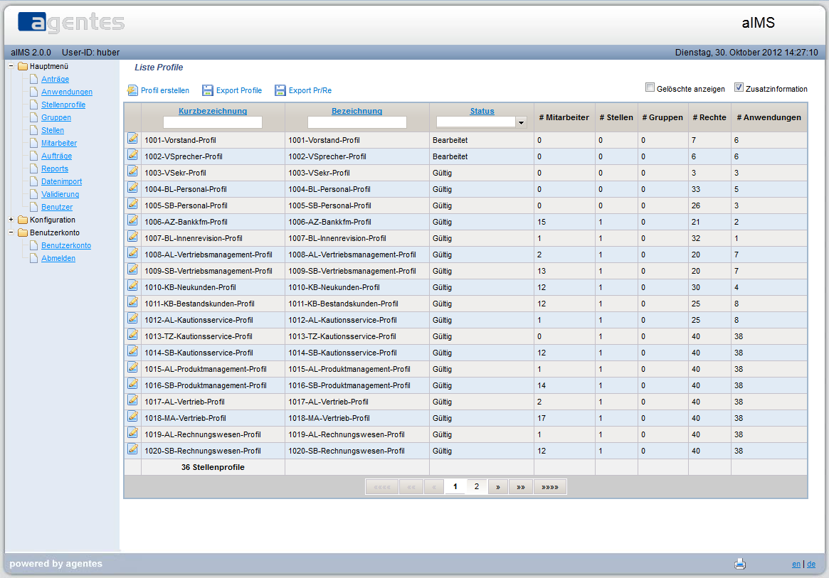 Profillsite Identity Management System aIMS